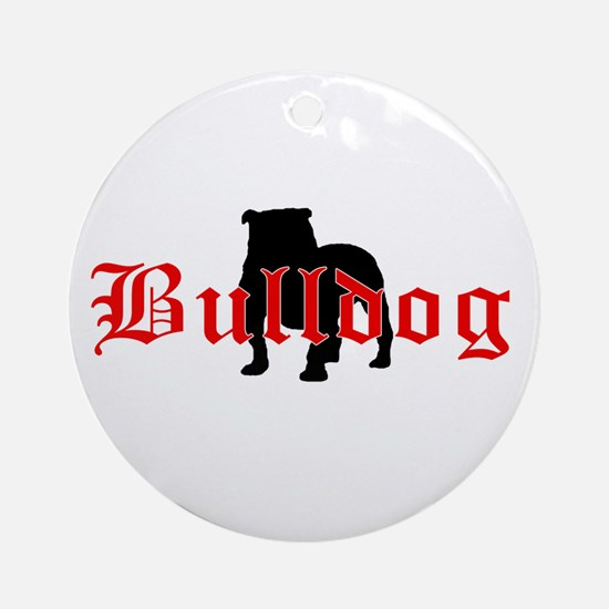 OE Bulldog Type Ornament (Round)