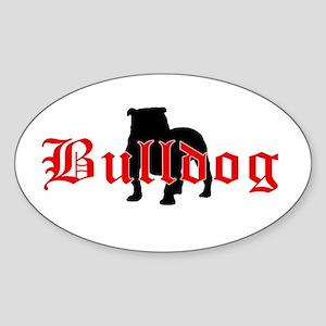 OE Bulldog Type Oval Sticker