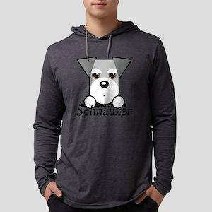 Schnauzer Puppy Mens Hooded Shirt
