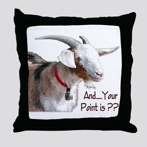 Point is Leon Throw Pillow
