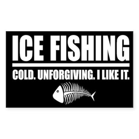 ICE FISHING Rectangle Sticker