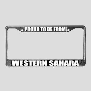 Western Sahara License Plate Frame