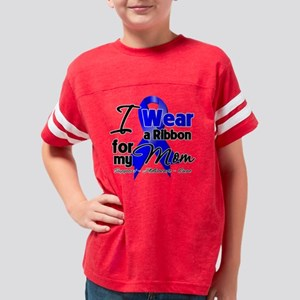 Mom- Colon Cancer Ribbon Youth Football Shirt