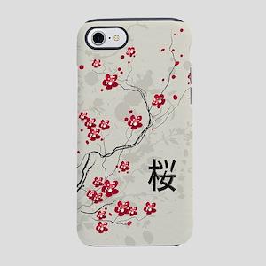 Oriental Style Sakura Cherry B iPhone 7 Tough Case