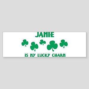Jamie is my lucky charm Bumper Sticker
