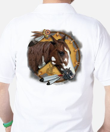 War Pony & Shield Golf Shirt