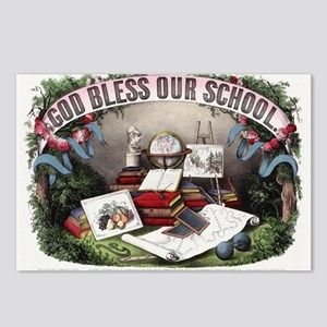 God bless our school - 1874 Postcards (Package of