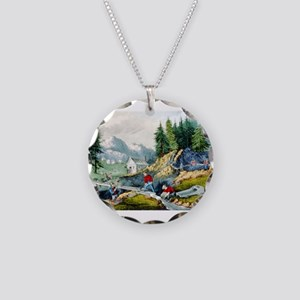 Gold mining in California - 1871 Necklace Circle C