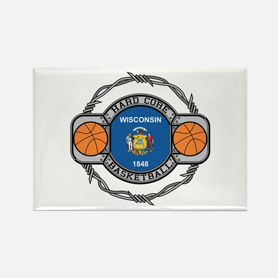 Wisconsin Basketball Rectangle Magnet