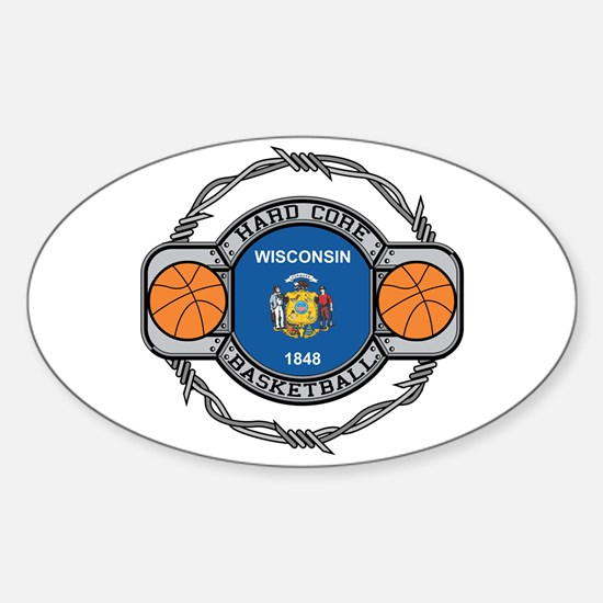 Wisconsin Basketball Oval Decal