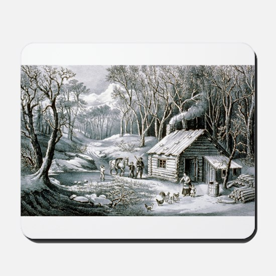 Home in the wilderness - 1870 Mousepad