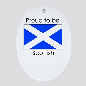 Proud to be Scottish Oval Ornament