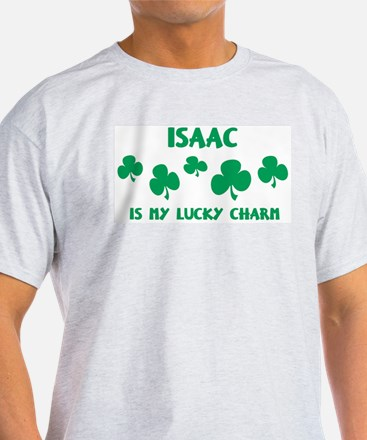 Isaac is my lucky charm Ash Grey T-Shirt