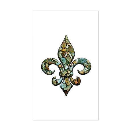 New Orleans Rocks Fleur Rectangle Sticker
