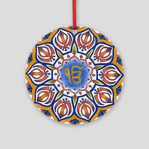 Ek Onkar Mandala Ornament (Round)