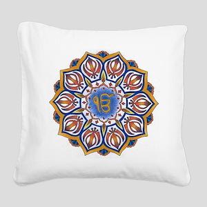 Ek Onkar Mandala Square Canvas Pillow