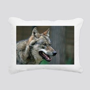 Wolf 002 Rectangular Canvas Pillow