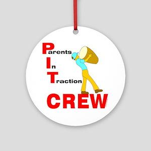 Pit Crew Band Parent Ornament (Round)