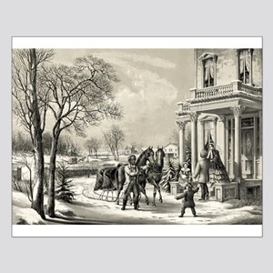 American country life - pleasures of winter - 1855