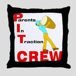 Pit Crew Band Parent Throw Pillow