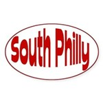 Love Pennsylvania South Philly Oval Sticker