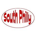 Love Pennsylvania South Philly Oval Sticker