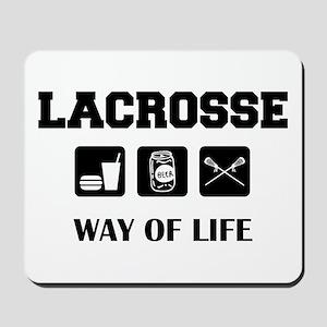 Eat Drink Beer Play Lacrosse Mousepad
