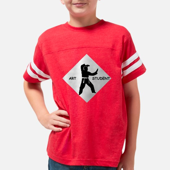 Karate Quip: Art Student Youth Football Shirt