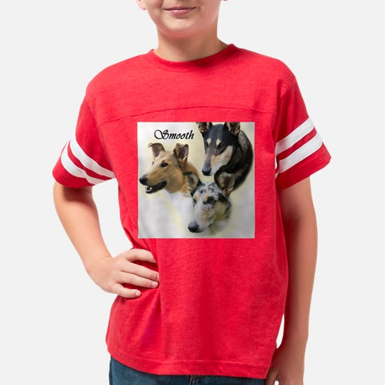 collie smooth trio 10x10 inch Youth Football Shirt