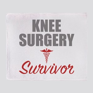 Knee Surgery Survivor Throw Blanket