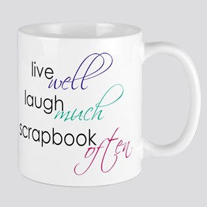Live Laugh Scrap - Mugs