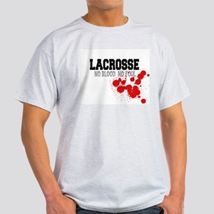 No Blood No Foul Lacrosse Ash Grey T-Shirt