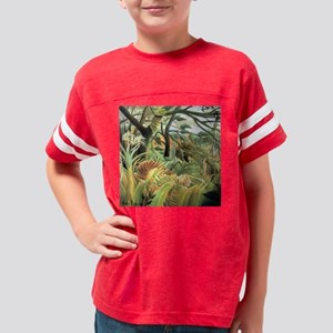 Henri Rousseau tiger in a tro Youth Football Shirt