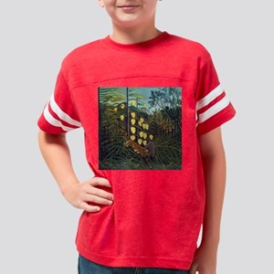 Henri Rousseau Tiger and Buff Youth Football Shirt