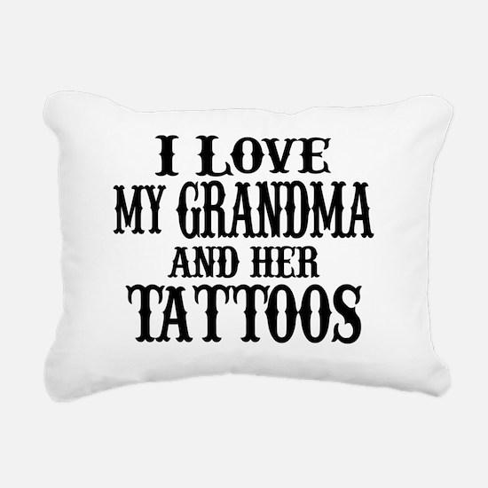 Unique Tattoos Rectangular Canvas Pillow