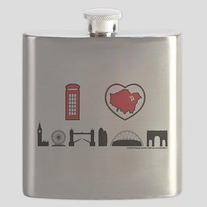 I Love London Flask