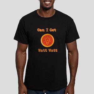 Watt Watt Men's Fitted T-Shirt (dark)