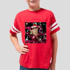 Christmas Tree Lights Youth Football Shirt