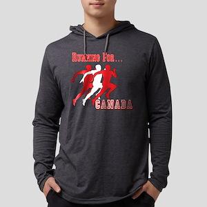 Running Canada Mens Hooded Shirt