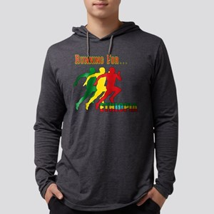Running Ethiopia Mens Hooded Shirt