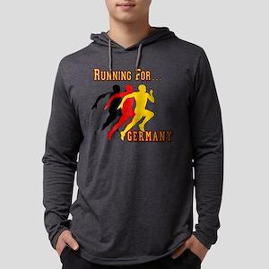 Running Germany Mens Hooded Shirt