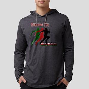 Kenya Running Mens Hooded Shirt