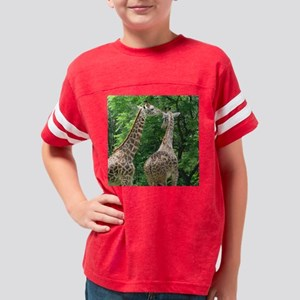 giraffe tile whisper Youth Football Shirt