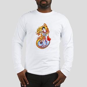 Geisha and Dragon Long Sleeve T-Shirt
