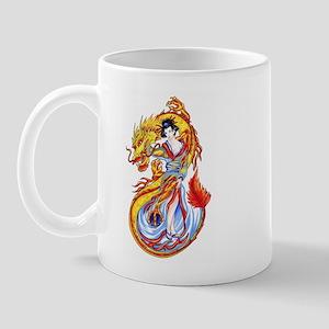 Geisha and Dragon Mug