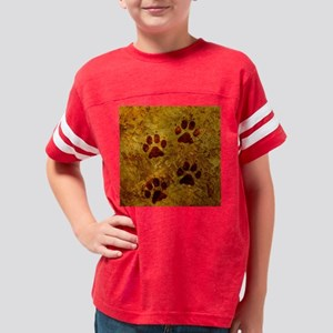paws only box tile Youth Football Shirt