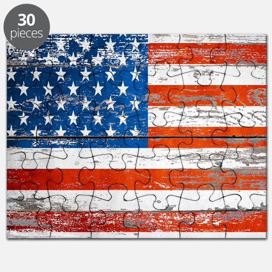 Cute Vintage american flag Puzzle
