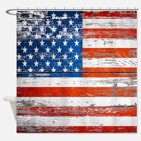 Cute American flag Shower Curtain