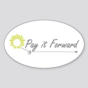 Pay It Forward Oval Sticker