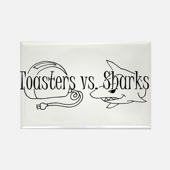 Toasters vs. Sharks Magnets